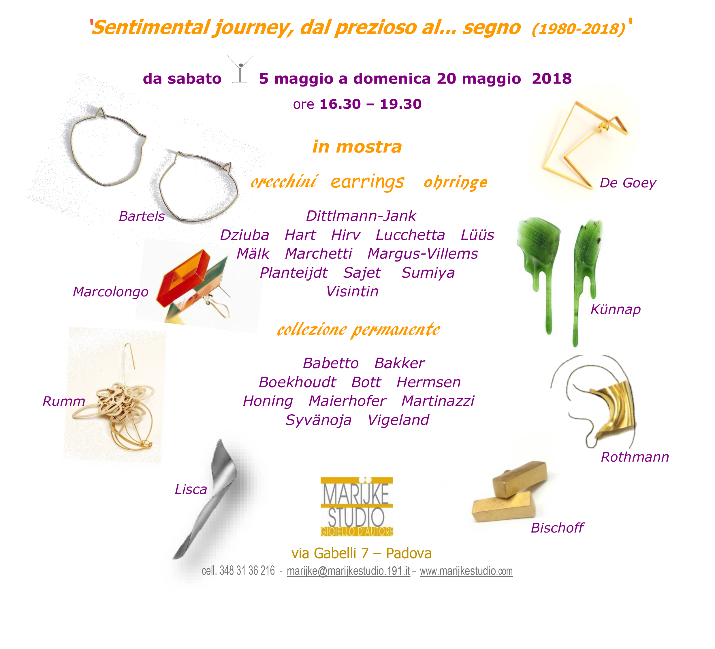 INVITO 'Sentimental journey' sabato 5 maggio